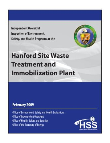 Hanford Site Waste Treatment and Immobilization Plant