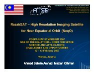RazakSAT – High Resolution Imaging Satellite for Near Equatorial ...