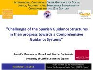 """""""Challenges of the Spanish Guidance Structures in their progress ..."""
