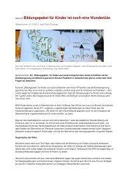 Hartz-IV Bildungspaket für Kinder ist noch eine Wundertüte - IAG ...