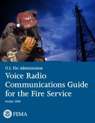 Voice Radio Communications Guide for the Fire Service