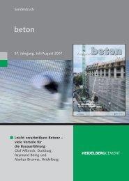 Sonderdruck: Leicht verarbeitbare Betone - HeidelbergCement