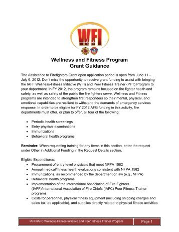 172d6a8b099 IAFF IAFC PEER FITNESS TRAINER 5-Day Course - International ...