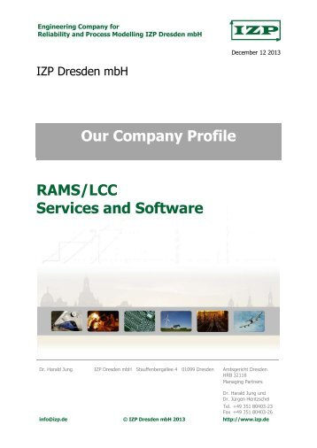 Our Company Profile - RAMS/LCC Services and Software
