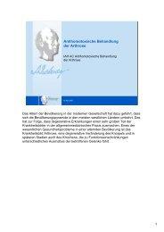 Antihomotoxische Behandlung der Arthrose