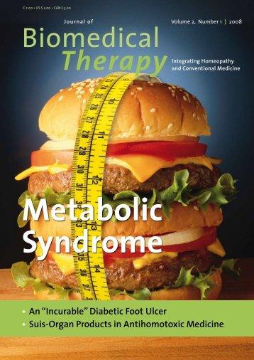 Metabolic Syndrome - International Academy of Homotoxicology