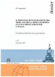 il processo di integrazione del mercato della difesa europeo e le sue ...