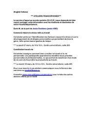 English follows - Faculty of Health Sciences