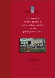 Scoping study for development of on-line heritage materials for the ...