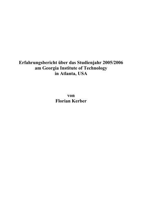Florian Kerber - Institut für Angewandte und Experimentelle Mechanik