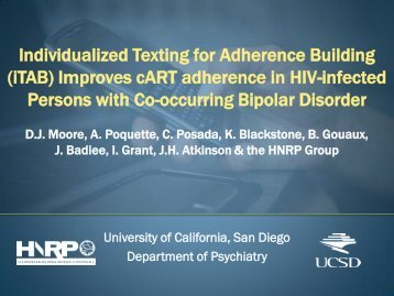 Individualized Texting for Adherence Building (iTAB) - IAPAC