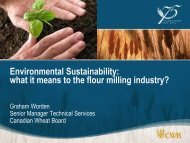 Environmental Sustainability: what it means to the flour milling ...