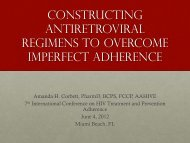 Constructing antiretroviral regimens to overcome imperfect ... - IAPAC