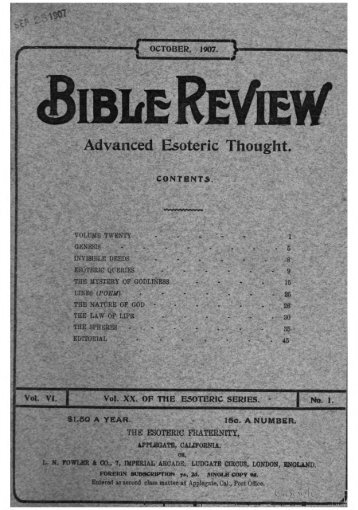 Bible Review V6: October 1907 - Iapsop.com