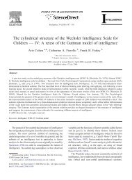 Wechsler Adult Intelligence Scale (WAIS) Wechsler Scales