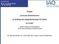 Forecast Gelsenkirchen - Institut Arbeit und Qualifikation