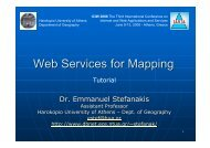 Web Services for Mapping - iaria