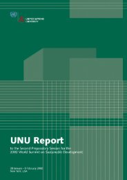 Effective Pathways to Sustainable Development - UNU-IAS - United ...