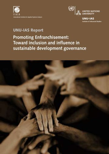 Promoting Enfranchisement: Toward inclusion and influence in ...