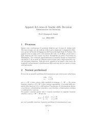 Appunti del corso di Analisi delle Decisioni - Istituto di Analisi dei ...