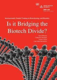 Internationally Funded Training in Biotech and Biosafety - UNU-IAS ...