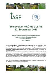 Symposium GRÜNE GLEISE 20. September 2010 Festsaal ... - IASP