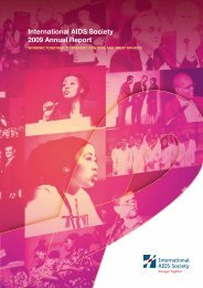 International AIDS Society 2009 Annual Report
