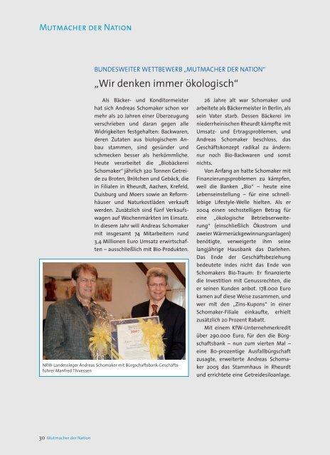 Mutmacher der Nation - Bürgschaftsbank NRW