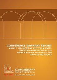 IAS 2011 Conference Summary Report - International AIDS Society