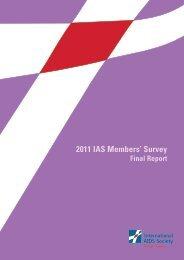 2011 IAS Members' Survey Report - International AIDS Society