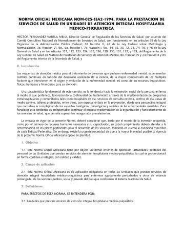 NORMA OFICIAL MEXICANA NOM-025-SSA2-1994, PARA ... - Iasis