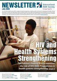 IAS Newsletter July 2009 - International AIDS Society