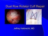 Dual Row Rotator Cuff Repair - IASM