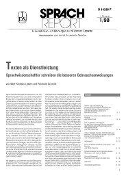 Texten als Dienstleistung - Institut für Deutsche Sprache