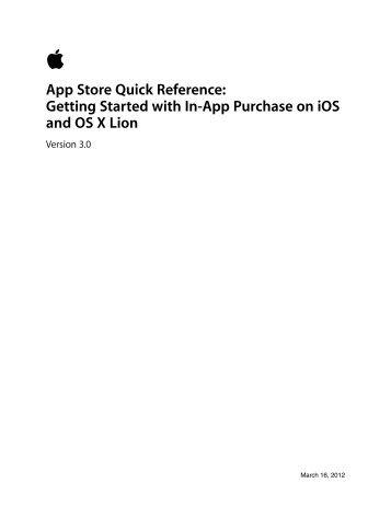 In-App Purchase Guidelines - Apple Developer