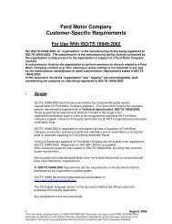 Ford Motor Company Customer-Specific Requirements - IATF