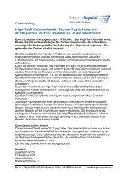 Pressemeldung Seiratherm 2012a - Bayern Kapital