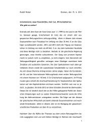 Rudolf Hickel Bremen, den 15