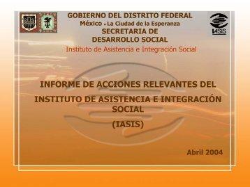 Presentación _IASIS_4aSesión_2de_abril2004 - Iasis - Gobierno ...