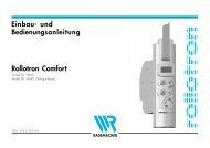 Einbau- und Bedienungsanleitung Rollotron Comfort