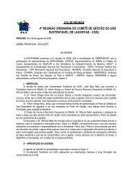 4ª Reunião Ordinária CGSL - Agosto/2006 (pdf) - Ibama