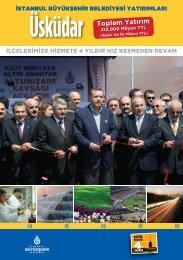 Üsküdar Toplam Yatırım - İstanbul Büyükşehir Belediyesi