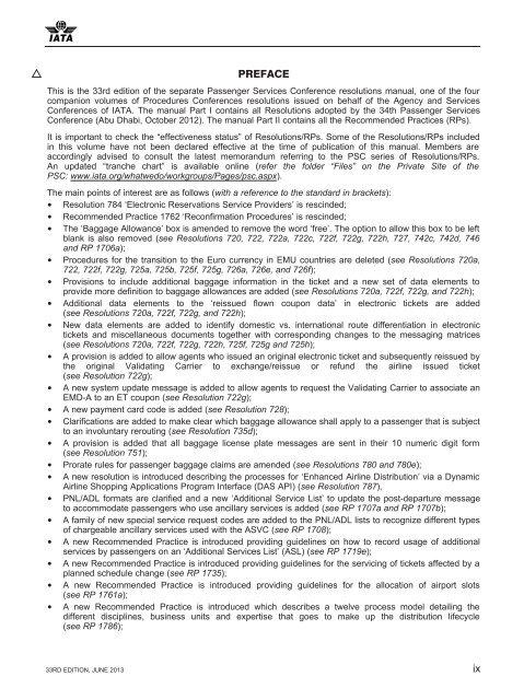 e17c73bd032c ... Array - passenger services conference resolutions manual iata rh yumpu  ...