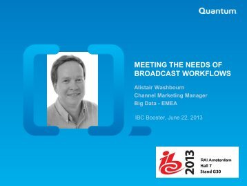 Meeting the needs of Broadcast Workflows - IBC