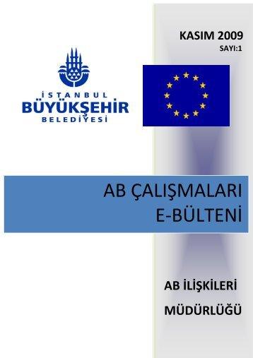 ab çalışmaları e-bülteni - İstanbul Büyükşehir Belediyesi
