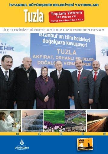 Tuzla Toplam Yatırım - İstanbul Büyükşehir Belediyesi