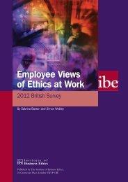 Executive Summary - Institute of Business Ethics
