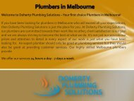 Plumbers in Melbourne - Home Improvement Australia