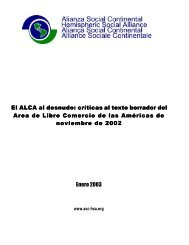 El ALCA al desnudo - Institute for Agriculture and Trade Policy