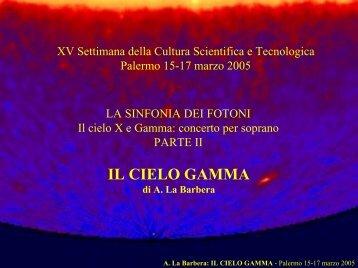 Il cielo X e gamma: concerto per soprano - parte ... - IASF Palermo
